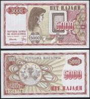 Macedonia P 7 A - 5000 5.000 Denar 1992 - UNC - Macédoine
