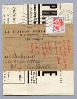BANDE DE JOURNAL DU 21/3/1966 AVEC AUCH MAURY N° 1468 TARIF/10/5/65 Routés 1° échelon - Marcophilie (Lettres)