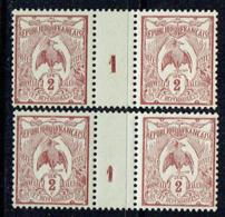 Nouvelle CALEDONIE - N° 89** - 2 Millésimes 1 - Chiffres  Variétés SC - Cagou - Neukaledonien