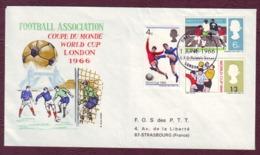 GRANDE-BRETAGNE -  FDC FOOTBALL ASSOCIATAION / WORLD CUP LONDON 1966 - 1952-.... (Elizabeth II)