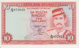 Brunei 10 Dollars 1986 Pick 8b UNC - Brunei