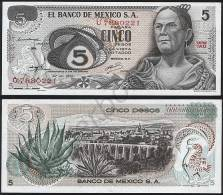 Mexico P 62 C - 5 Pesos 27.6.1972 - UNC - Messico