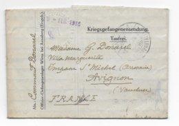 1918 - PRISONNIERS De GUERRE - KRIEGSGEFANGENEN - LETTRE Du CAMP D'OFFICIERS - OFLAG - De WIESA B. ANNABERG - Guerre De 1914-18