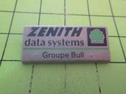 615d Pin's Pins / Beau Et Rare / THEME : INFORMATIQUE / NITH DATA SYSTEMS GROUPE BULL On La Coince ? - Informatique