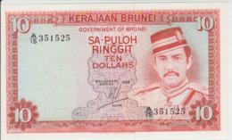 Brunei 10 Dollars 1983 Pick 8 UNC - Brunei
