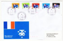 "FDC - TAAF - 2008 - Série Courante ""Drapeau Des T.A.A.F "" Iles Glorieuses (iles Eparses) - FDC"