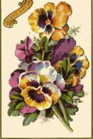 BONNE FETE - Fleurs, Pensées, Découpi - Fleurs