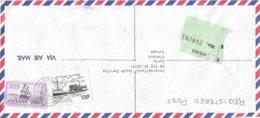 Guyana 1986 Georgetown Abolition Slavery Dutch Ship Den Arendt First Slaves 150c Registered Cover - Guyana (1966-...)