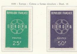 PIA - FRANCIA - 1959 - EUROPA - (Yv 1218-19) - 1959