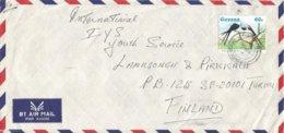 Guyana 1987 Georgetown Swallow-tailed Kite Elanoides Forficatus Bird Of Prey Cover - Guyana (1966-...)