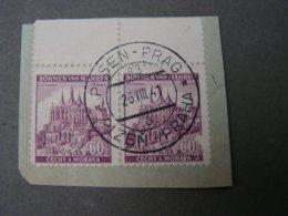 Bahnpost Pilsen Prag 1941 - Used Stamps