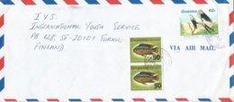 Guyana 1985 Fort Wellington Swallow-tailed Kite Elanoides Forficatus Bird Of Prey Fish 50c On 6c Overprint Cover - Guyana (1966-...)