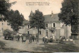 St - Martin  La  Cluze -  La  Mairie    Et  L' église. - France