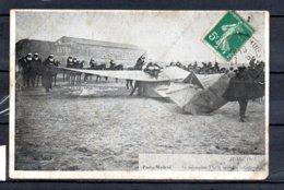 Paris -Madrid - 21 Mai 1911 - Le Monoplan TRAIN Aprés La Catastrophe - Accidents