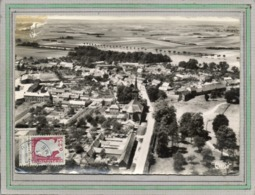 CPSM Dentellée - ALLONVILLE (80) - Vue Aérienne Du Bourg En 1961 - Frankreich