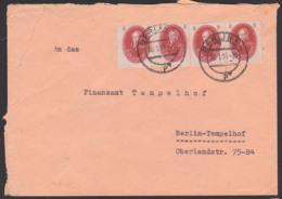 Wilhelm Von Humboldt BERLIN Adademie Der Wissenschaften 8 Pfg. (4) DDR 264, Orts-Doppelbrief Aus BERLIN N4 30.1.51 - [6] República Democrática
