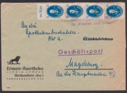 """Max Planck BERLIN Akademie Der Wissenschaften 12 Pfg. (4) DDR 266, Mit OR Propagandast. """"Unsere Stimme Am 15. OKT.."""" - DDR"""