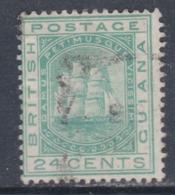 Guyana N° 39 O Armoiries 24 C. Vert-bleu Oblitération Légère  Sinon TB - British Guiana (...-1966)