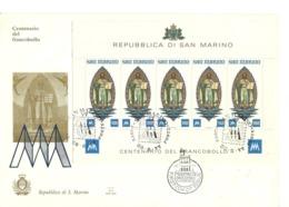 1977 - San Marino BF 38 Centenario Del Francobollo         FDC   15/23 - FDC
