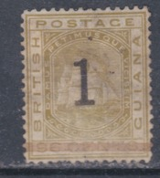 Guyana N° 54 (.) Armoiries 1 Sur 96 Jaune -olive Neuf Sans Gomme  Sinon TB - British Guiana (...-1966)