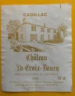 11808- Château La Croix Bouey 1980 Cadillac - Bordeaux