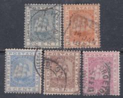 Guyana N° 65 / 69 O Armoiries La Série Des 5 Valeurs Oblitérations Moyennes  Sinon TB - British Guiana (...-1966)