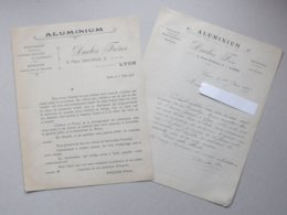 LYON - Publicite + Lettre à En-tête 1915 ALUMINIUM Articles Station Estivale Hivernale Photographie Sur Souvenir -DUCLOS - Francia