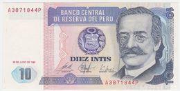 Peru P 129 - 10 Intis 1987 - UNC - Peru