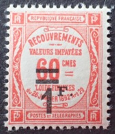 R1615/1233 - 1926 - TIMBRE TAXE - N°53 NEUF** - 1859-1955 Mint/hinged