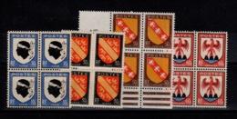 YV 755 / 756 / 757 / 758 N** Bloc De 4 , Armoiries - France