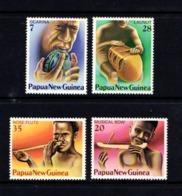 PAPUA  NEW  GUINEA    1979    Musical  Instruments    Set  Of  4      MNH - Papua New Guinea