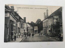 Carte Postale Ancienne FLERE-LA-RIVIERE Route De Châteauroux - France