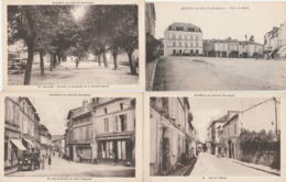 4 CPA:MAREUIL SUR BELLE (24) ANCIENNE VOITURE RUE DE RUDEAU PLACE LAFAYETTE,PLACE SAINT ANDRÉ,RUE DE L'ÉGLISE,LES ALLÉES - France