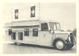 St.Gallen, Fahrbares Automobil-Postbureau Auf Saurer-Chassis (PTT Autobus Postkantoor ) 4 X Scan (posthistorie) - SG St. Gall