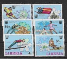 Thème Sports D'Hiver - Liberia - Timbres Neufs ** Sans Charnière - TB - Winter (Other)
