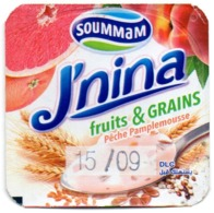 "Opercule Cover Yaourt Yogurt "" Soummam "" J'NINA - Fruits & Grains - Yoghourt Yahourt Yogourt - Koffiemelk-bekertjes"