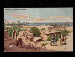 Cartolina Libia Tripoli La Regione Di Tagiura - Libia
