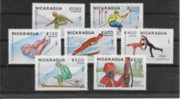 Thème Sports D'Hiver - Nicaragua - Timbres Neufs ** Sans Charnière - TB - Winter (Other)