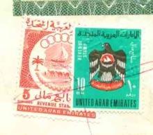 UAE , Egypt, Saudi Arabia And France Revenue Stamps Collection On Complete Passport - Condition As In Scan - Emirati Arabi Uniti