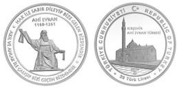AC - AHI EVRAN BRIGHTENERS OF ANATOLIA #4 MOSQUE COMMEMORATIVE SILVER COIN PROOF - UNCIRCULATED TURKEY 2019 - Turquia