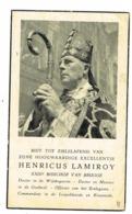 Brugge, Heurne, Leuven, Ieper: 1952; Henricus Lamiroy - XXIIIe Bisschop Van Brugge ( 2 Scans) - Images Religieuses