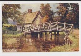 AJ14 Flatford Bridge Near East Bergholt, Essex - Artist Signed Jotter - England