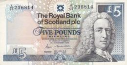 BILLET 5 POUNDS STERLING - Scozia