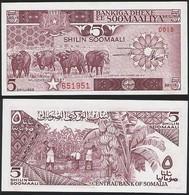 Somalia P 31 C - 5 Shilin Shillings 1987 - UNC - Somalia