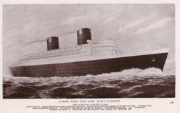 AL76 Shipping - Cunard White Star Liner Queen Elizabeth - RPPC - Steamers