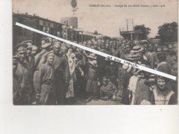 CPA..CONLIE.PASSAGE DE NOS ALLIES RUSSES 5 AOUT 1916. - Conlie