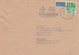 Env Affr Bizone 80 + Zwangszuschlagsmarke Obl MÜNCHEN Du 22.9.49 Adrssée à München - Zone Anglo-Américaine