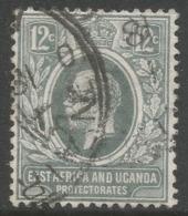East Africa & Uganda Protectorates. 1912-21 KGV. 12c Used. Mult Crown CA W/M. SG 48 - Kenya, Uganda & Tanganyika