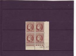 N° 681 - 2,50F CERES DE MAZELIN - G De G+H - 3° Tirage/1° Partie Du 16.1 Au 15.2.47 - - Coins Datés