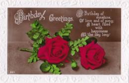 AN46 Greetings - Birthday Greetings - Red Roses - Birthday